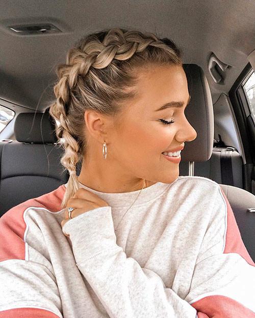 Blonde-Hair-2 Best French Braid Short Hair Ideas 2019