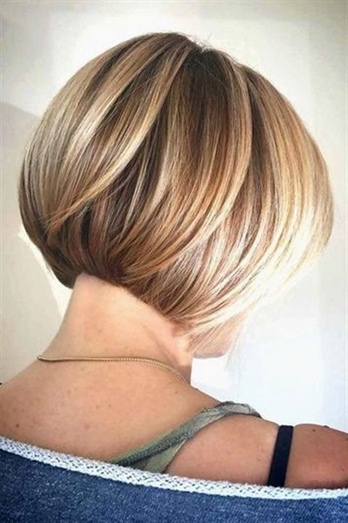 Blonde-Highlighted-Bob Various Short Blonde Bob Hairstyles