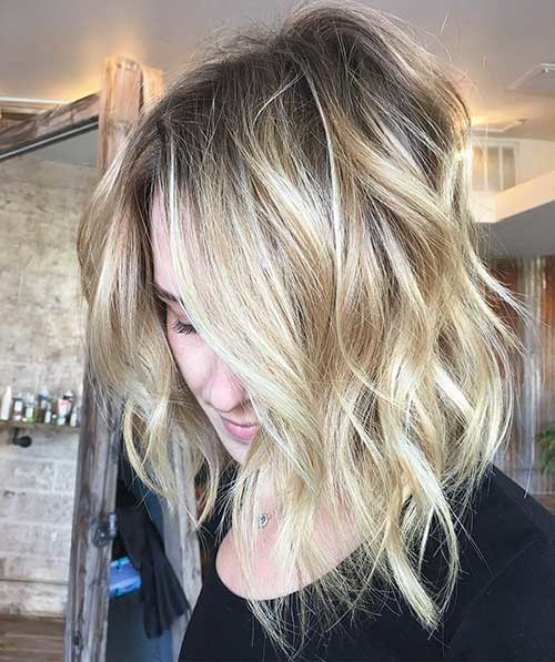 Blonde-Long-Bob Trending Style for Summer: Curly and Wavy Hairstyles