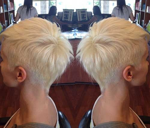 Blonde-Pixie Short Haircut Pics for Straight Hair