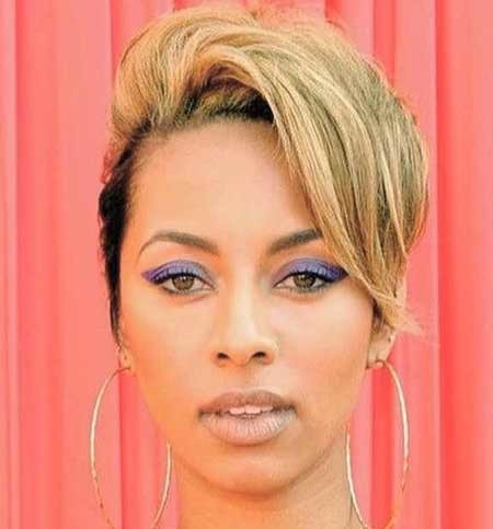 Blonde-Sexy-Straight-Hair Hairstyles for Black Women with Short Hair