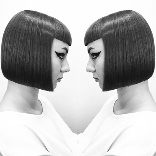 Blunt-Bob-Haircut-1 Populer Blunt Bob With Bangs 2019