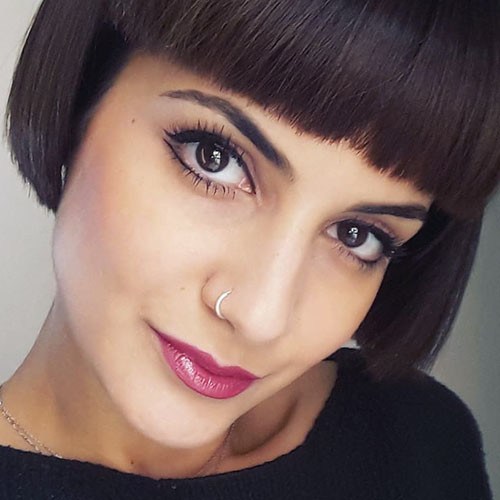 Blunt-Cut-Bob-With-Bangs-2 Populer Blunt Bob With Bangs 2019