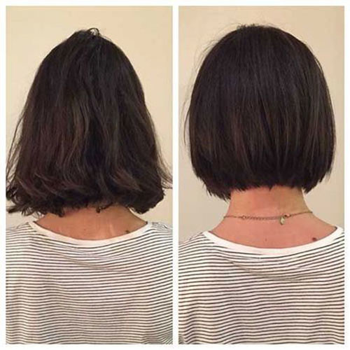 Bob-Haircut-Before-and-After Elegant Short Haircuts for Thick Hair