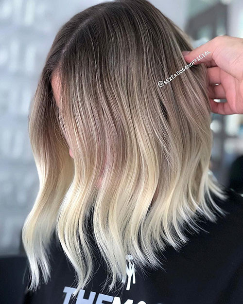 Brown-to-Blonde-Ombre Beautiful Brown to Blonde Ombre Short Hair