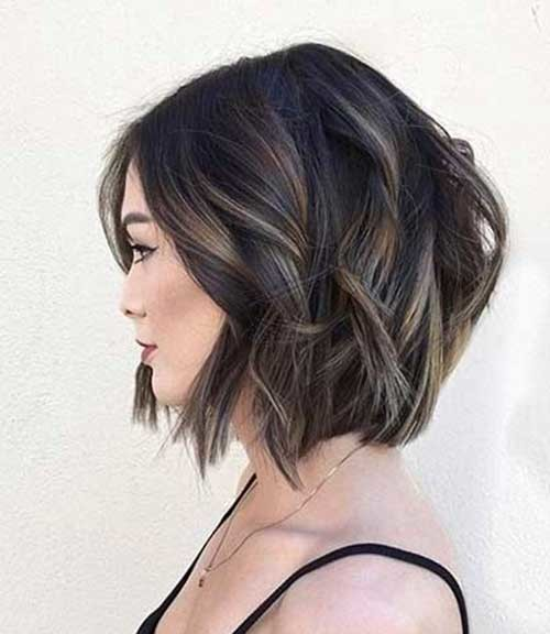 Brunette-Bob-Cut Best Must-Try Brunette Bob Haircuts