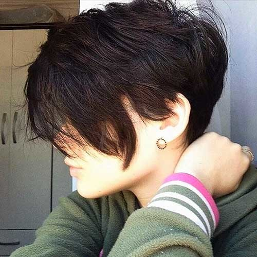 Brunette-Pixie Nice Short Hairstyle Ideas for Teen Girls