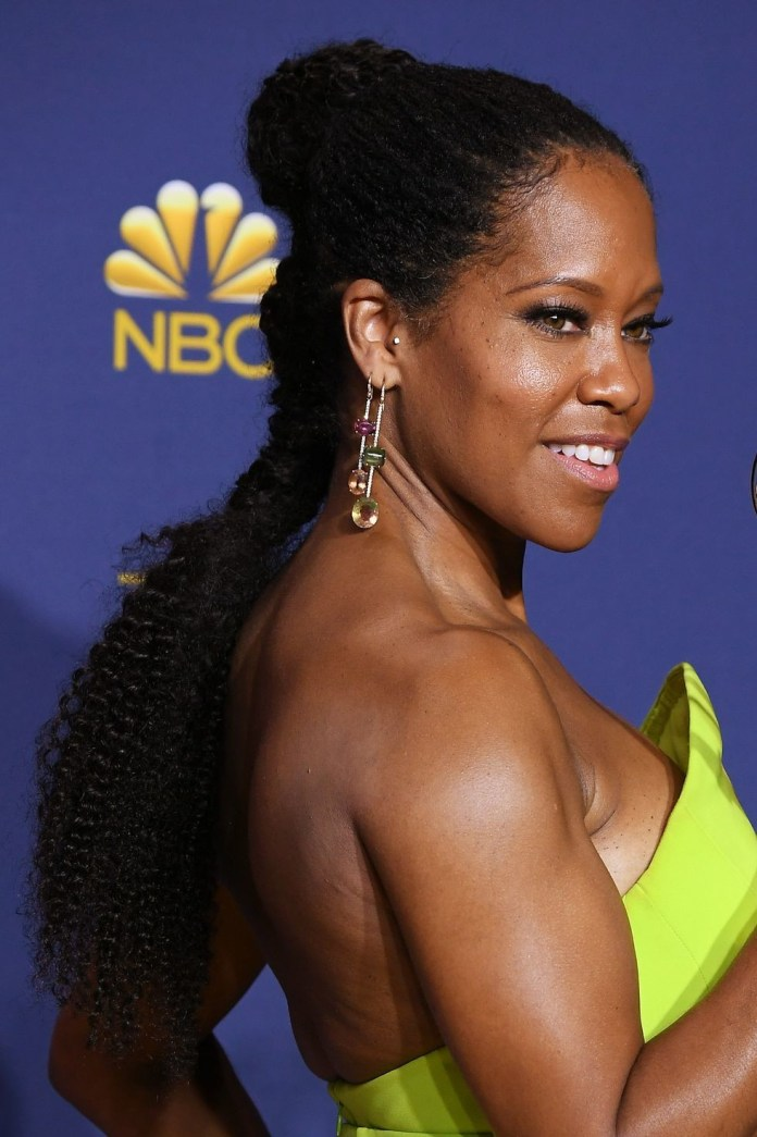 Bun-and-Low-Pony-Combo Easy Natural Hairstyles for Black Women