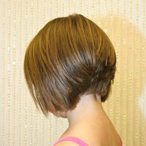 Casual-Light-Brown-Short-Stacked-Haircut Short stacked haircut