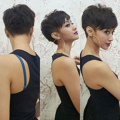 Choppy-Cut Short Brown Hairstyles for Fashionable Women