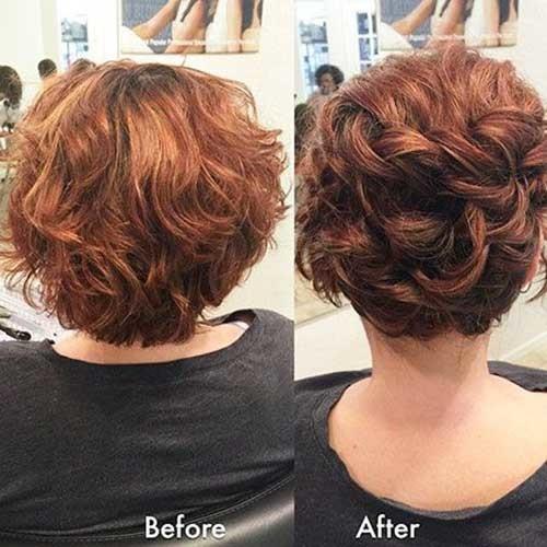 Classy-Bun Simple Short Hairstyles for Pretty Women