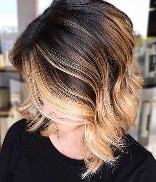 Color-Melting-Contrast Cool Short Hairstyles You Can Rock This Summer