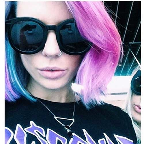 Colorful-Hair Nice Short Hairstyle Ideas for Teen Girls