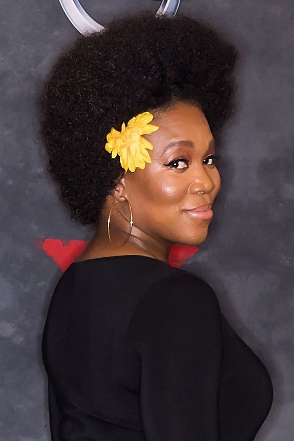 Combed-Out-Afro Best Short Hairstyles for Black Women