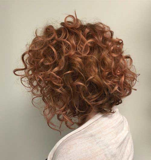 Copper-Red-1 Curly Bob Hairstyles for Chic Women