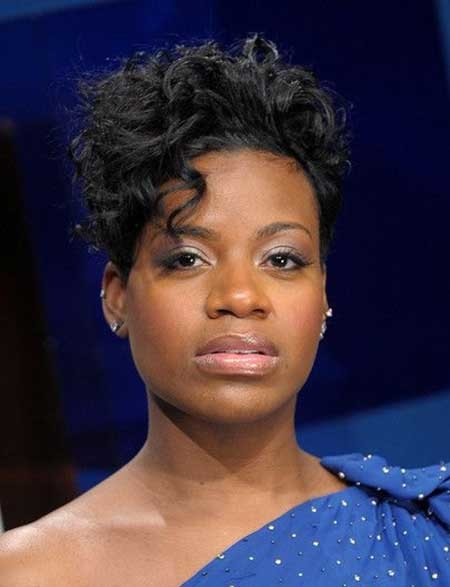Curly-Dark-Gorgeous-Pixie Hairstyles for Black Women with Short Hair