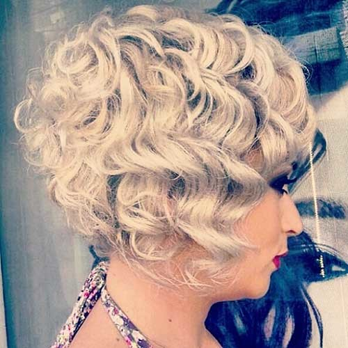 Curly-Gray-Bob Most Magnetizing Hairstyles for Curly and Wavy Hair