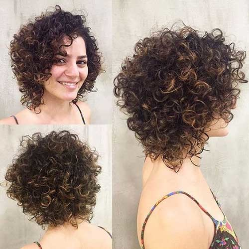 Curly-Stacked-Short-Hairstyle Very Popular Curly Short Hairstyles Every Lady Need to See