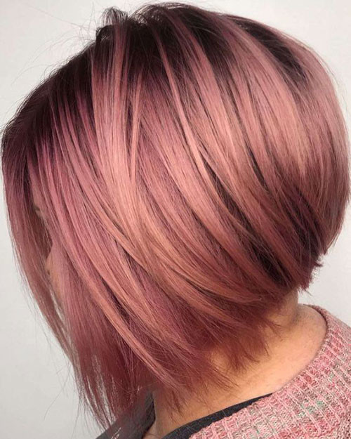 Cute-Blonde-Red-Hair Trendy Hair Colors for Short Hair for Ladies