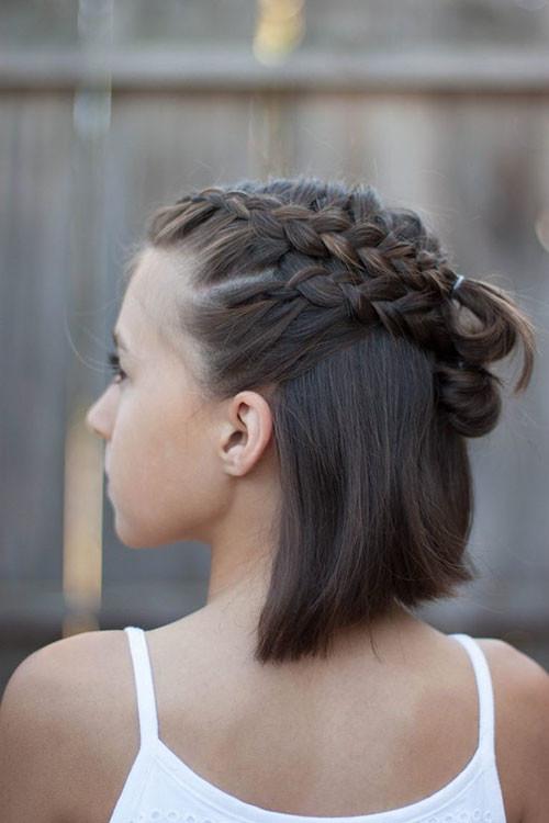 Cute-French-Braids-For-Short-Hair-1 Best French Braid Short Hair Ideas 2019
