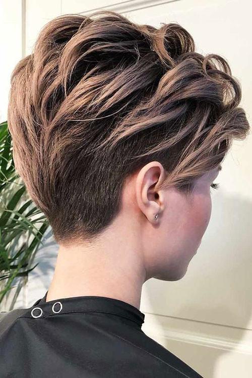 Dark-Blonde-Pixie Trendy Hair Colors for Short Hair for Ladies