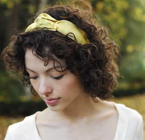 Easy-Short-Curly-Hairstyle-with-Headband Easy Hairstyles For Short Curly Hair