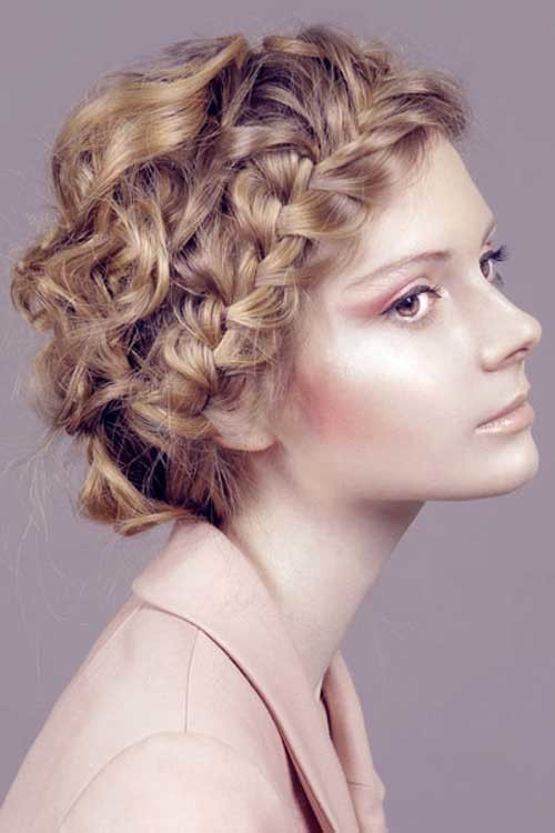 Easy-Short-Hairstyle-For-Curly-Braided-Hair Easy Hairstyles For Short Curly Hair