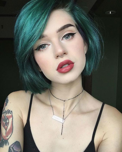 Edgy-Hair-Color Trendy Hair Colors for Short Hair for Ladies