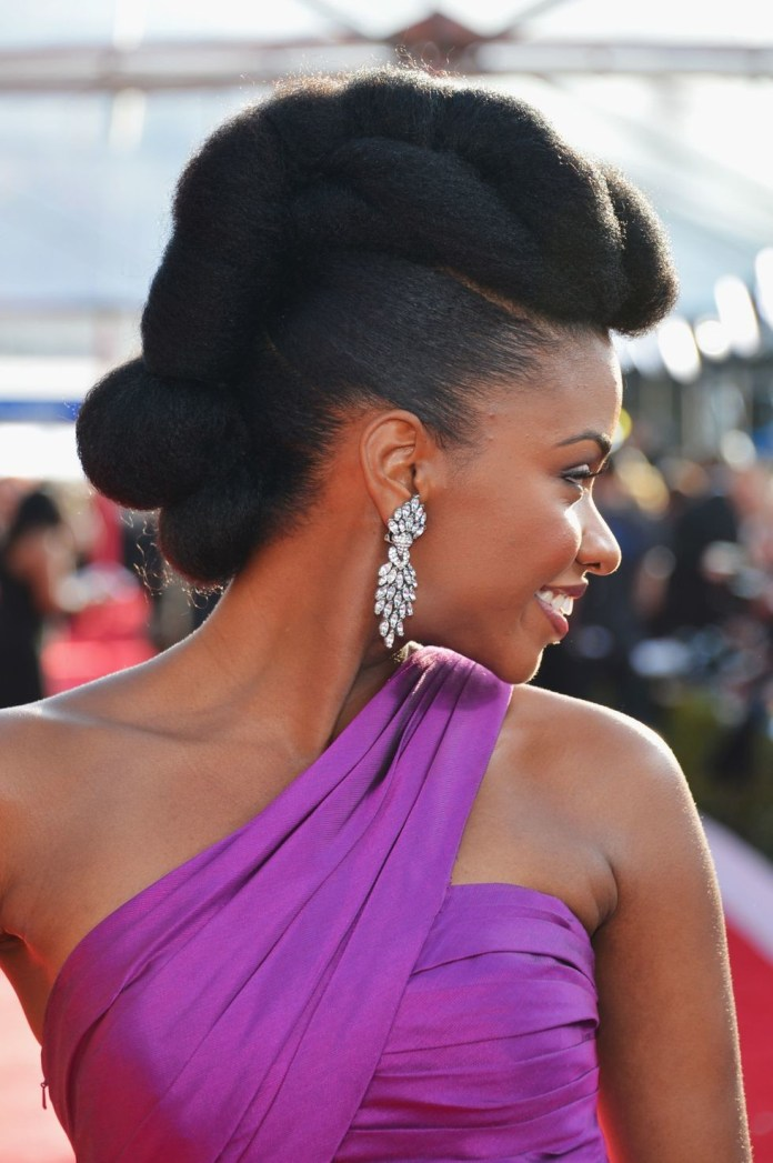 Elegant-Updo-1 Easy Natural Hairstyles for Black Women