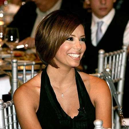 Eva-Longoria-Bob-Hairstyle New Short Celebrity Haircuts 2019