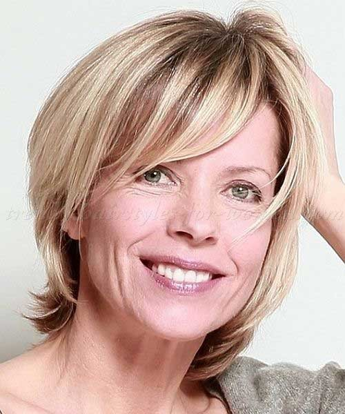 Fine-Short-Blonde-Hair-Style-for-Over-50 Short Hair Styles for Over 50