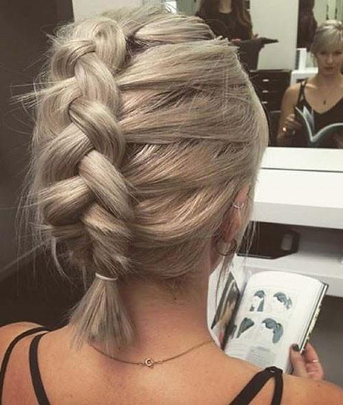 French-Braid-Short-Hair-1 Best French Braid Short Hair Ideas 2019