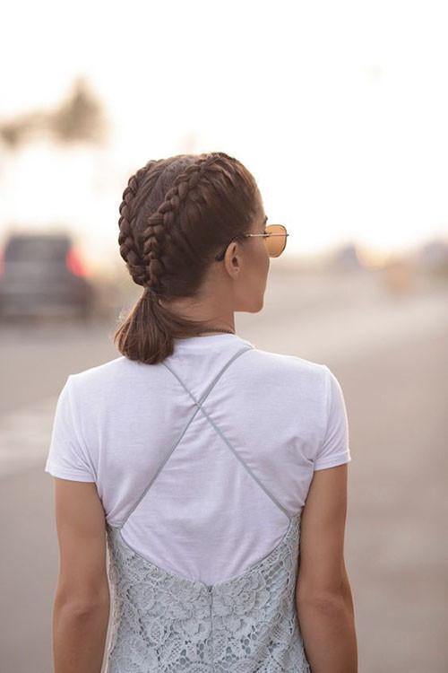 French-Braid-Short-Hair-4 Best French Braid Short Hair Ideas 2019