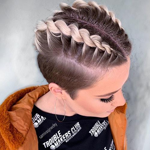 French-Braid-Short-Hair-5 Best French Braid Short Hair Ideas 2019