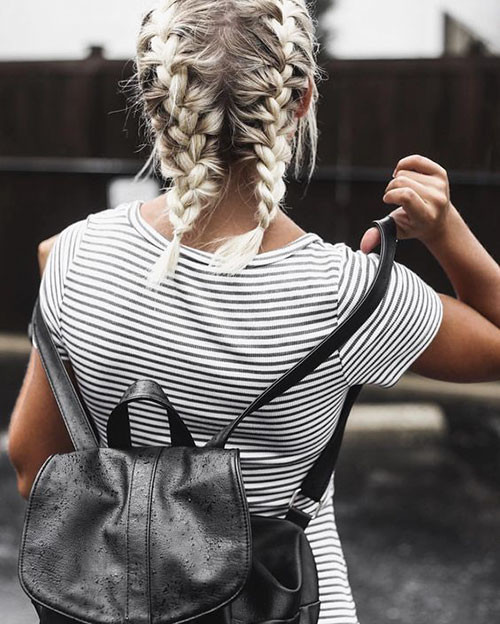 French-Braids-Short-Hair-1 Best French Braid Short Hair Ideas 2019