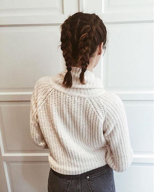 French-Braids-Short-Hair-2 Best French Braid Short Hair Ideas 2019
