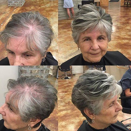 Funky-Pixie-for-Older-Women Best Short Haircuts for Women Over 50