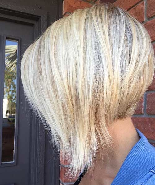 Inverted-Bob-Hairstyle Striking Short Hair Ideas for Blondies