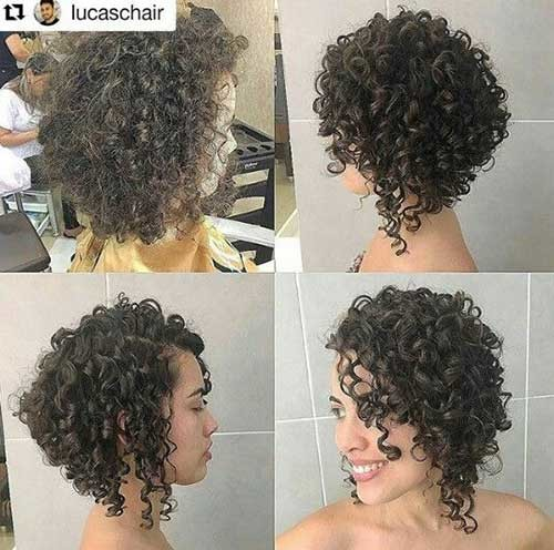 Inverted-Curly-Bob Very Popular Curly Short Hairstyles Every Lady Need to See