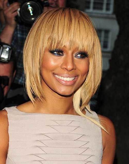 Keri-Hilson-Blonde-Bob-Hair-with-Choppy-Bangs Keri Hilson Blonde Bob Hairstyles