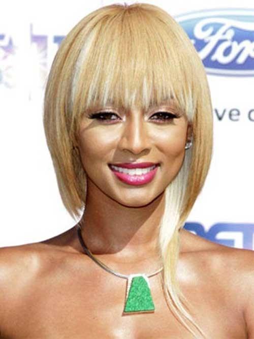 Keri-Hilson-Blonde-Bob-with-Blunt-Bangs Keri Hilson Blonde Bob Hairstyles