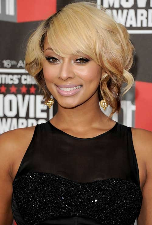 Keri-Hilson-Blonde-Short-Bob-Hair-with-Curly-Ends Keri Hilson Blonde Bob Hairstyles