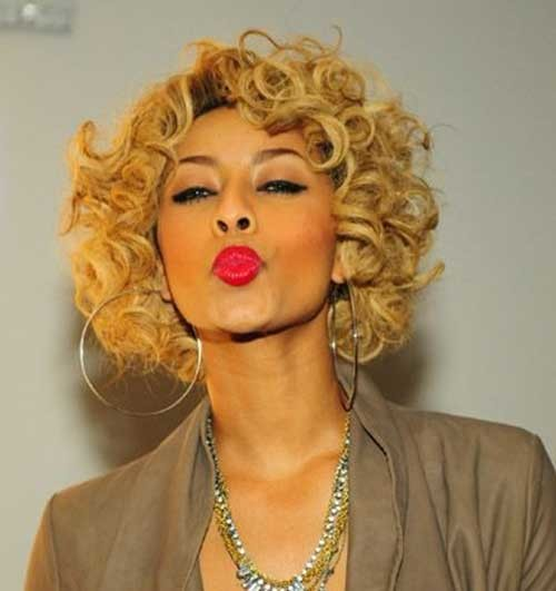 Keri-Hilson-Blonde-Short-Curly-Thick-Bob-Hair Keri Hilson Blonde Bob Hairstyles