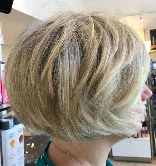 Layered-Haircut Various Short Blonde Bob Hairstyles