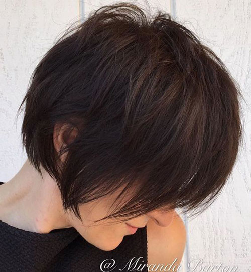 Layered-Short-Haircut Short Brown Hairstyles for Fashionable Women