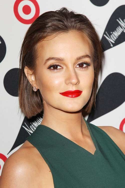 Leighton-Meester-short-hair-2019 Celebrity Women with Short Hair