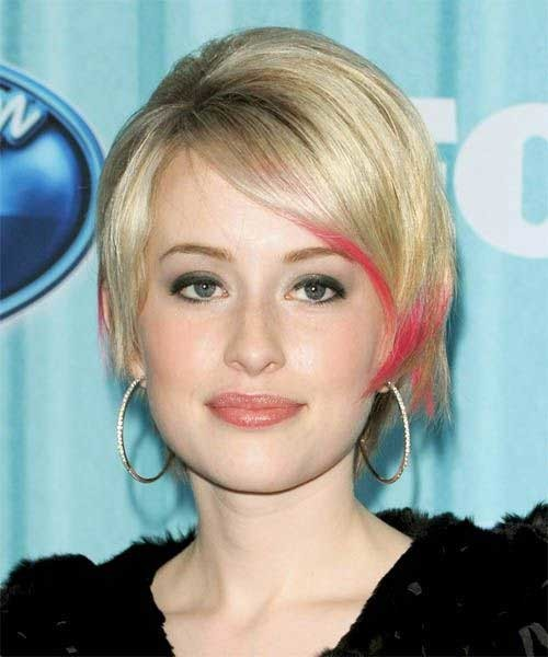 Long-Pixie-Hairstyle-with-Pink-Highlights Long Pixie Haircuts