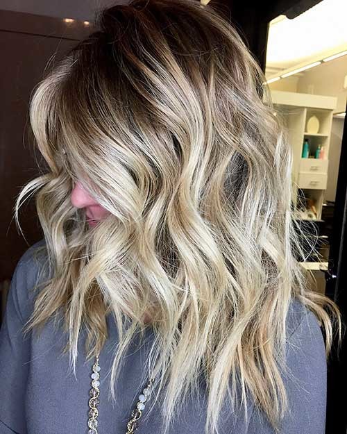 Medium-Length-Hair Trending Style for Summer: Curly and Wavy Hairstyles