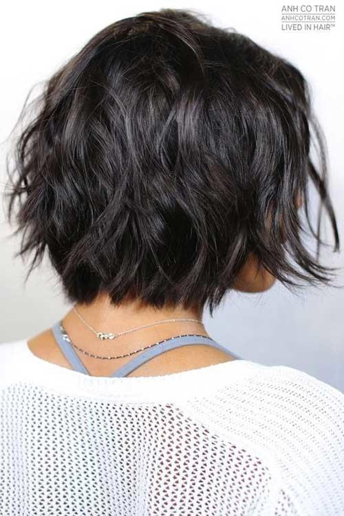 Messy-Bob Best Must-Try Brunette Bob Haircuts