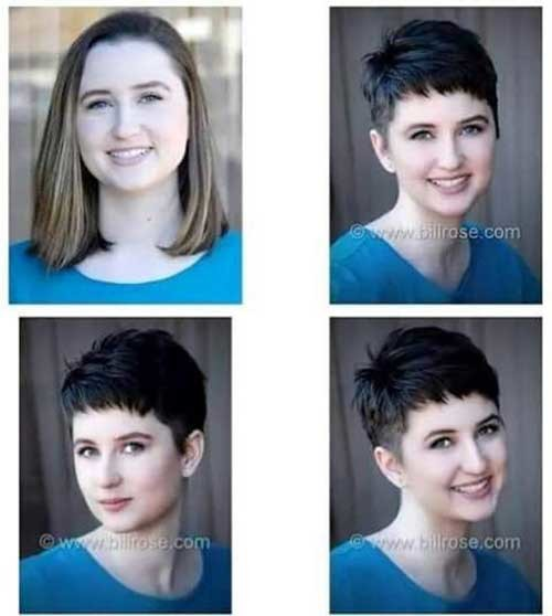 Modern-Look Before and After Pics of Short Haircuts